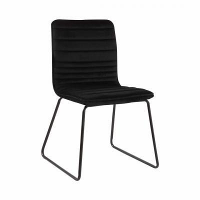 Steppelt bársony szék, fekete - VENUS